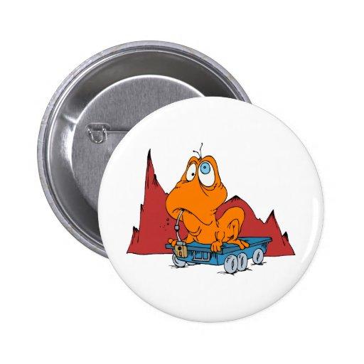 Martian Eating Mars Rover Pinback Button