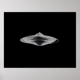Martian Flying Saucer MCC-4890 Lightspeedster HRL Poster