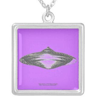 Martian Flying Saucer MCC-4890 Lightspeedster HRL Silver Plated Necklace