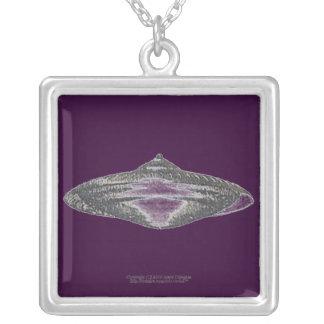Martian Flying Saucer MCC-4890 Lightspeedster HRL Square Pendant Necklace