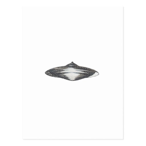 Martian Flying Saucer MCC-4890 Postcard
