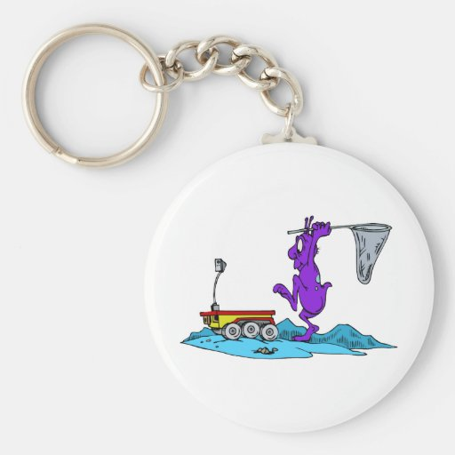 Martian Hunting Rover Basic Round Button Keychain