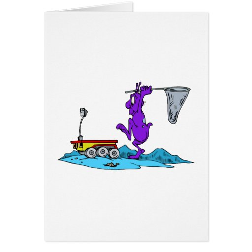Martian Hunting Rover Greeting Card