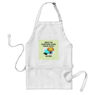martian joke adult apron