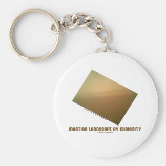 Martian Landscape By Curiosity (Mars Landscape) Basic Round Button Keychain
