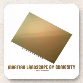 Martian Landscape By Curiosity (Mars Landscape) Beverage Coaster