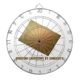 Martian Landscape By Curiosity (Mars Landscape) Dart Board