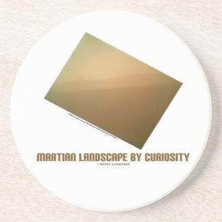 Martian Landscape By Curiosity (Mars Landscape) Drink Coaster