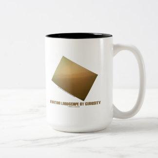 Martian Landscape By Curiosity (Mars Landscape) Two-Tone Coffee Mug