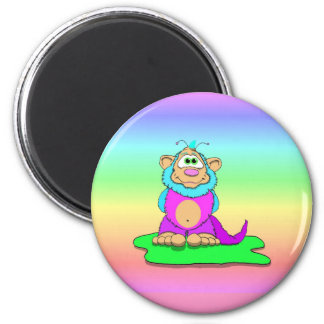 Martian Mallows Panoramic 2 Inch Round Magnet