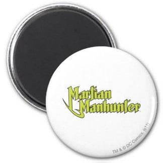 Martian Manhunter Logo 2 Inch Round Magnet