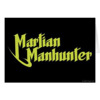 Martian Manhunter Logo Greeting Card