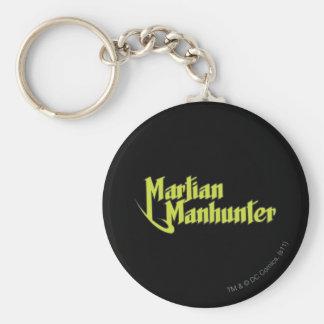 Martian Manhunter Logo Basic Round Button Keychain