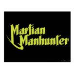Martian Manhunter Logo Postcard