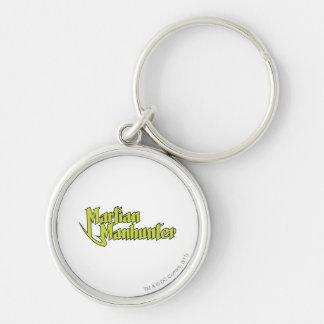 Martian Manhunter Logo Silver-Colored Round Keychain