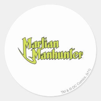 Martian Manhunter Logo Round Stickers