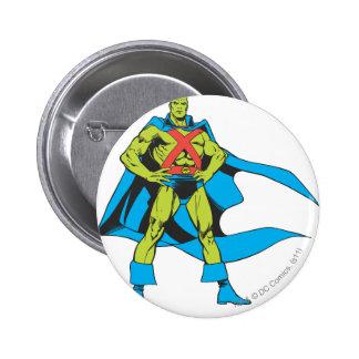 Martian Manhunter Poses 2 Inch Round Button
