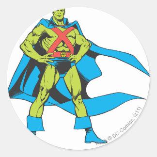 Martian Manhunter Poses Classic Round Sticker