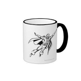 Martian Manhunter Soars 3 Ringer Mug