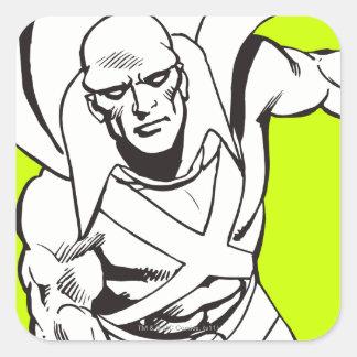 Martian Manhunter Soars 5 Square Sticker