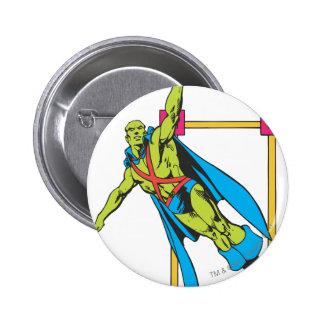 Martian Manhunter Soars Button