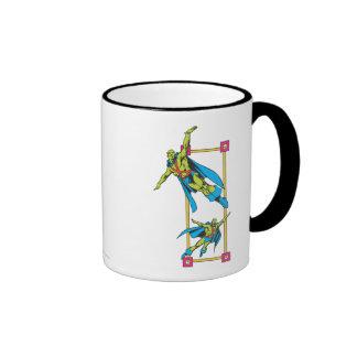 Martian Manhunter Soars Ringer Coffee Mug
