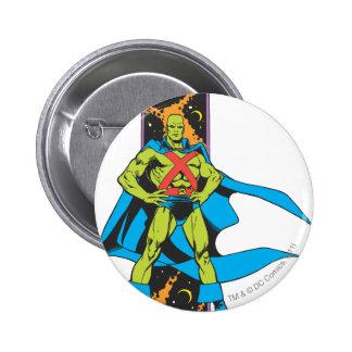 Martian Manhunter & Space Backdrop 2 Inch Round Button