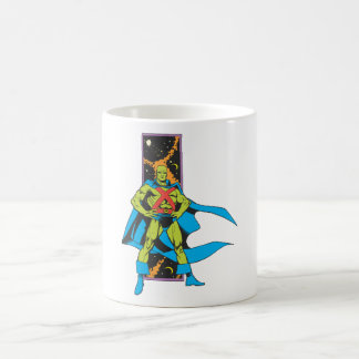 Martian Manhunter & Space Backdrop Coffee Mug