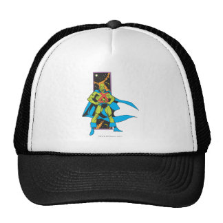 Martian Manhunter & Space Backdrop Hats