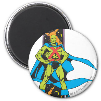 Martian Manhunter & Space Backdrop 2 Inch Round Magnet