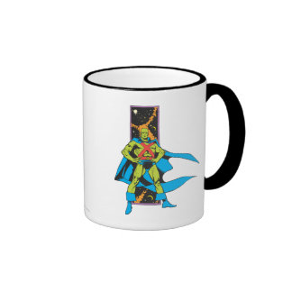 Martian Manhunter Space Backdrop Coffee Mugs