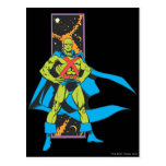 Martian Manhunter & Space Backdrop Post Cards