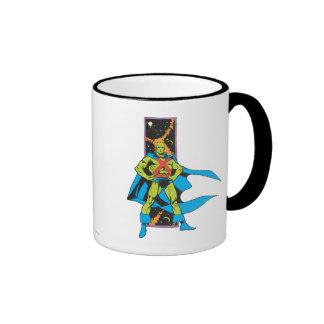 Martian Manhunter & Space Backdrop Ringer Coffee Mug