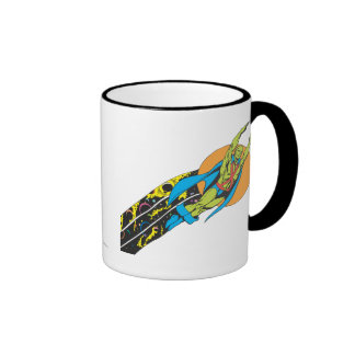 Martian Manhunter Takes Flight Ringer Mug