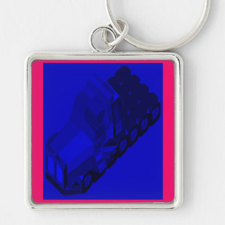 MARTIAN/MARS Space Truckin Conventional Cabs Silver-Colored Square Keychain
