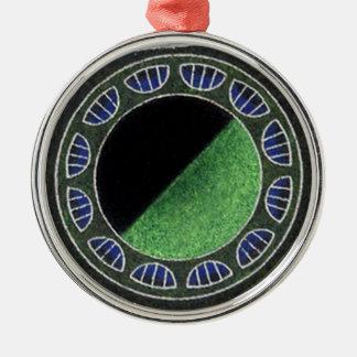 Martian Money 8 Faces Flying Saucer Metal Ornament