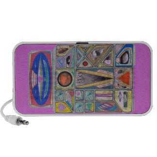 Martian Money Robot Currency Shield Travel Speakers