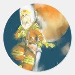 Martian Moon Round Sticker