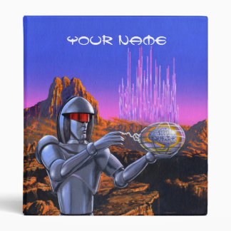 Martian Robot Binder with Your Name