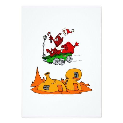 Martian Santa rover 5x7 Paper Invitation Card