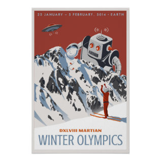Martian Winter Olympics Poster at Zazzle