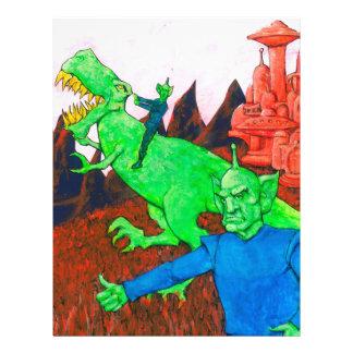 Martians and T-Rex Letterhead