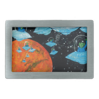 Martians are Angry Belt Buckle