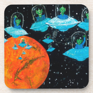 Martians are Angry Drink Coaster