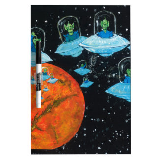 Martians are Angry Dry Erase Board