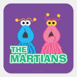 Martians Classic Style Square Sticker