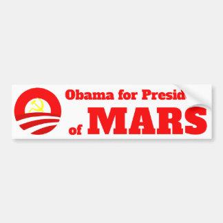 Martians For Obama Car Bumper Sticker