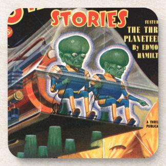 Martians Go For a Ride Drink Coaster