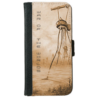 Martians With Gas Guns War Of The Worlds Wallet Phone Case For iPhone 6/6s