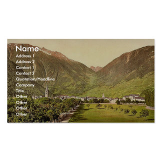 Martigny and Forclay Pass Valais Alps of Switze Business Card